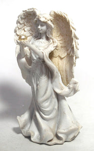 New! Angel Ornament Statue Figure Holding Pearl 12cm