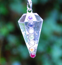 Load image into Gallery viewer, Clear Quartz Crystal Dowsing Pendulum