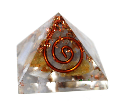 New! Small Blue Lace Agate Natural Crystal Stone Orgone Pyramid