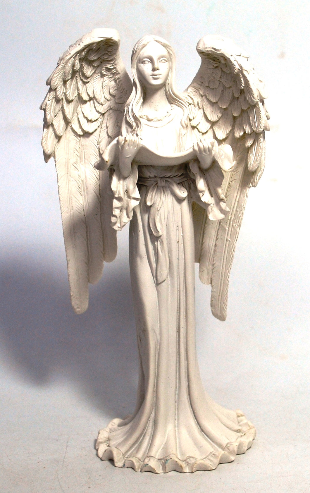 New! Angel Ornament Statue Figure Reading 16cm