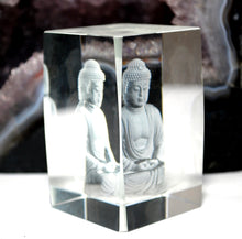 Load image into Gallery viewer, New! 3D Sitting Buddha Glass Paperweight Decorative Gift 460g