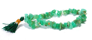 New! Natural Unique Chrysoprase Green Crystal Stone Chips Power Bracelet