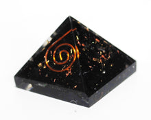 Load image into Gallery viewer, Black Tourmaline Crystal Stone Orgone Pyramid
