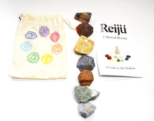 Load image into Gallery viewer, New! Natural Chakra Crystal Raw Chunk Set Of Seven Inc Guide To The Chakras