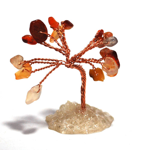 Carnelian Miniature Genuine Crystal Gemstones Tree