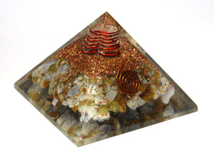New! Large Blue Lace Agate Natural Crystal Stone Orgone Pyramid