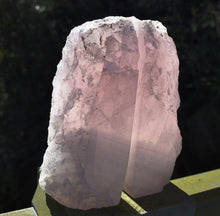 Load image into Gallery viewer, New! Natural & Unique Polished Front Rose Quartz Crystal Stone Hand Crafted Bookends 970g Inc Luxury Gift Box