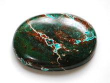 Load image into Gallery viewer, New! Chrysocolla Natural Healing Crystal Polished Palmstone