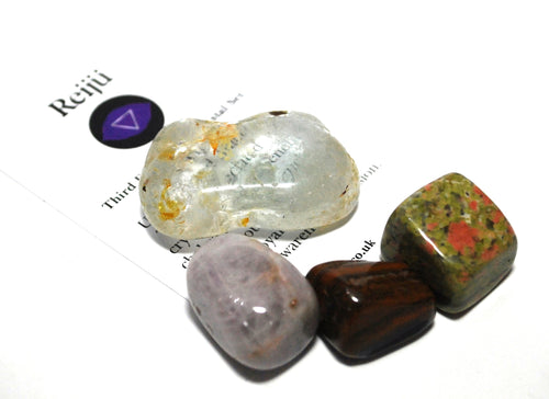 Third Eye Chakra Crystal Tumble Stone Healing Set (Beautifully Gift Wrapped)