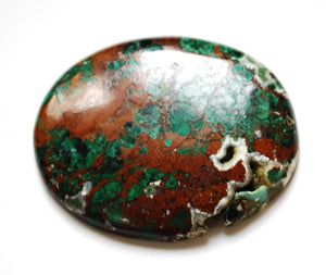 New! Chrysocolla Natural Healing Crystal Polished Palmstone