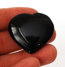 Load image into Gallery viewer, Black Obsidian Crystal Stone Heart & Angel Wings Dish Gift Wrapped - Krystal Gifts UK