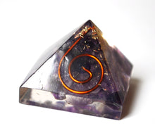 Load image into Gallery viewer, Amethyst Crystal Chip Stone Orgone Orgonite Pyramid