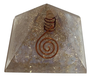 Large Opalite Orgone Crystal Pyramid