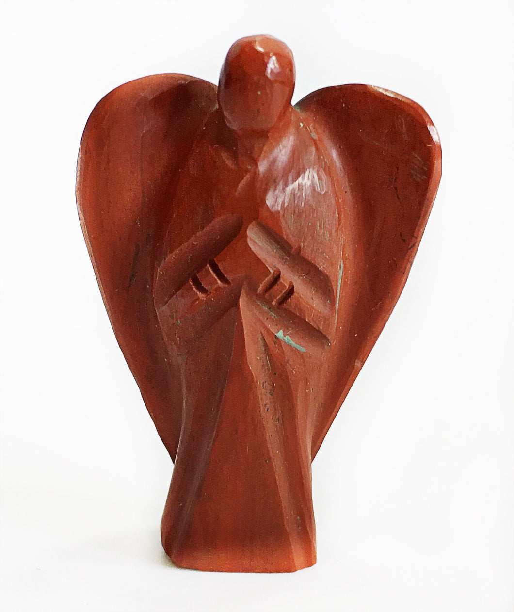 Red Jasper Crystal Healing Angel - Krystal Gifts UK