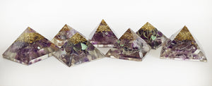 Amethyst Orgone Crystal Chip Pyramid (Flawed Seconds)