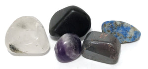 New! Natural Crystals For Pain Relief Polished Tumble Stones Set