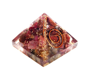 Ruby Crystal Orgone Pyramid - Krystal Gifts UK
