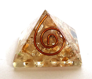 Citrine Crystal Orgone Pyramid - Krystal Gifts UK