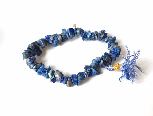 Lapis Lazuli Chip Crystal Bracelet - Krystal Gifts UK