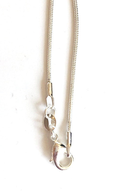 Silver Snake Chain Necklace Gift Wrapped Gift Accessory - Krystal Gifts UK