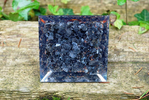 New Large Natural Larvikite Crystal Stones Orgone Orgonite Pyramid