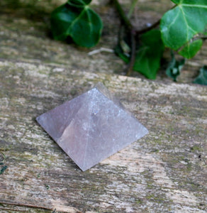 Smoky Quartz Crystal Stone Hand Carved & Polished Pyramid Gift Wrapped