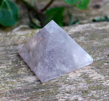 Load image into Gallery viewer, Smoky Quartz Crystal Stone Hand Carved & Polished Pyramid Gift Wrapped