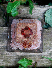 Load image into Gallery viewer, Sunstone Crystal Stone Orgone Pyramid Gift Wrapped