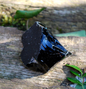 New! Natural Raw Black Obsidian 'Dragon Glass' Chunk Piece