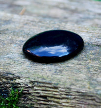 Load image into Gallery viewer, New! Black Obsidian Natural Polished Cabachone Worry Stone