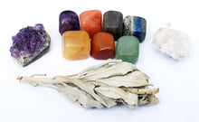 Load image into Gallery viewer, New! Natural Crystal Healing Starter Gift Set Kit Wrapped With Love