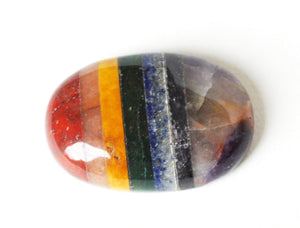 Chakra Crystal Palm Worry Stone Gift Wrapped - Krystal Gifts UK