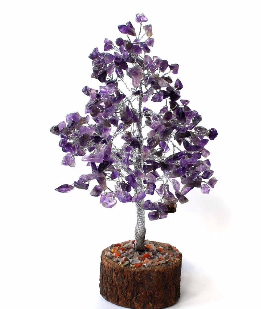 Amethyst Crystal Chip Wire Wrapped Gemstone Tree