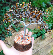 Load image into Gallery viewer, New! Tigers Eye Natural Crystal Stone Gemstone Tree