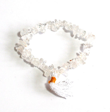 Clear Quartz Crystal Stone Chips Power Bracelet