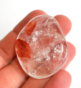 Natural Polished Unique Clear Quartz Crystal Stone Palm Stone