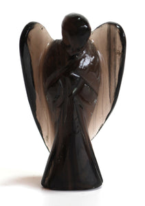 Hand Carved Smoky Quartz Crystal Angel - Krystal Gifts UK