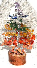Load image into Gallery viewer, Seven Chakra Crystal Types Gemstones Tree