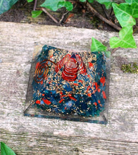 Load image into Gallery viewer, Natural Large Bloodstone Crystal Stones Orgone Pyramid