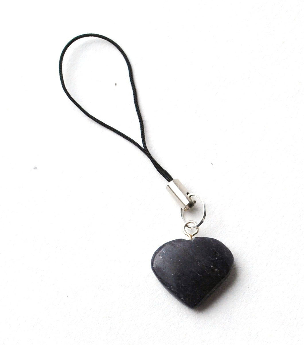Blue Aventurine Crystal Heart Mobile / Key / Bag Charm - Krystal Gifts UK