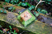 "Load image into Gallery viewer, ""New"" Peridot Large Crystal Orgone Pyramid"