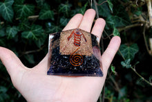 Load image into Gallery viewer, Black Obsidian Large Crystal Stone Orgone Pyramid