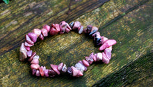 Load image into Gallery viewer, Rhodonite Natural Crystal Stones Elasticated Bracelet For Emotional Shock