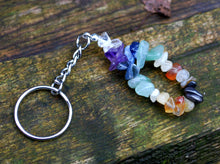 "Load image into Gallery viewer, ""New"" Natural Chakra Crystal Keyring, Mobile Charm"