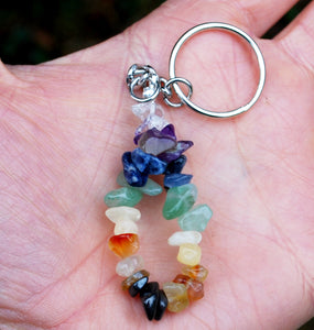 """New"" Natural Chakra Crystal Keyring, Mobile Charm"