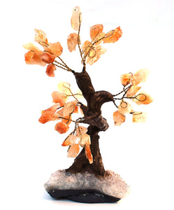 Natural Citrine And Clear Quartz Crystal Stone Gemstone Tree Unique Piece