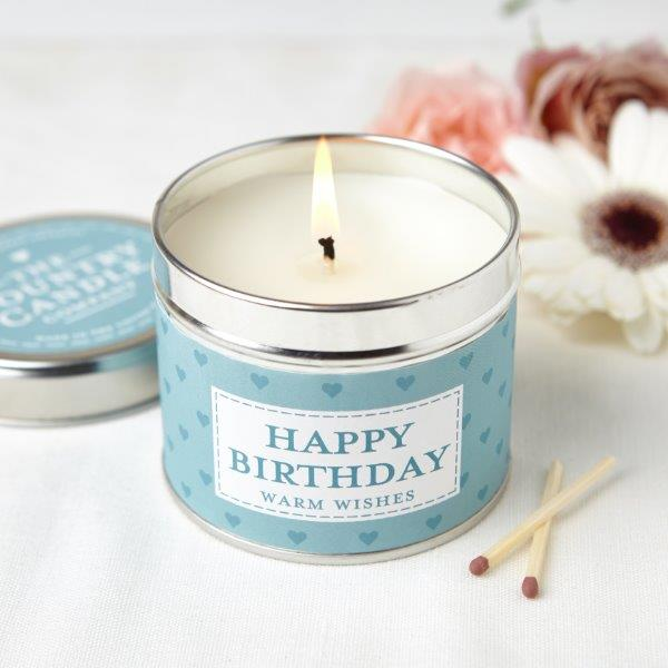New! Happy Birthday Luxury Fragranced Vegan Candle (GMO & Palm Oil Free) Gift Boxed