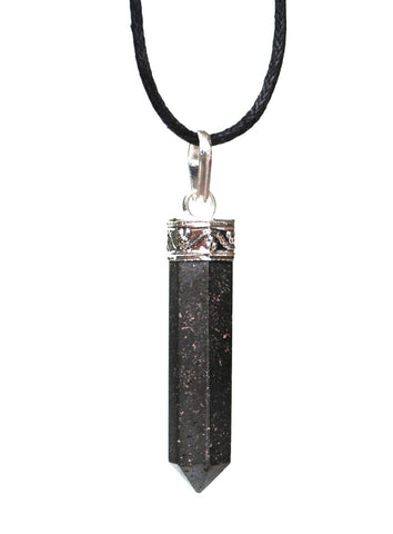 Hematite Natural Crystal Stone Pendant Necklace Jewellery