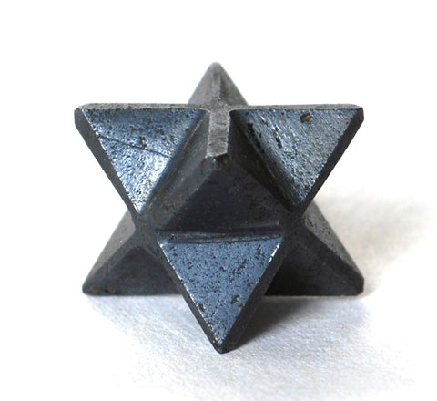 Hematite Natural Hand Crafted Merkaba Crystal Stone Star