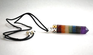 Seven Crystal Chakra Pendant Necklace - Krystal Gifts UK